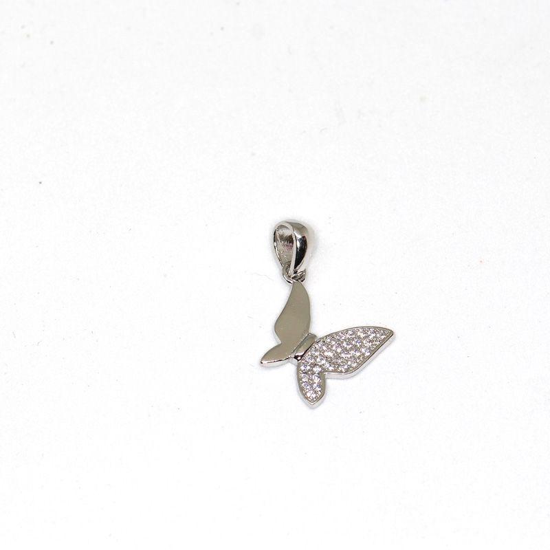 Colgante plata mariposa