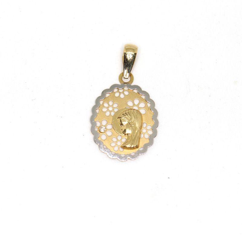 Medalla colgante oro Virgen niña