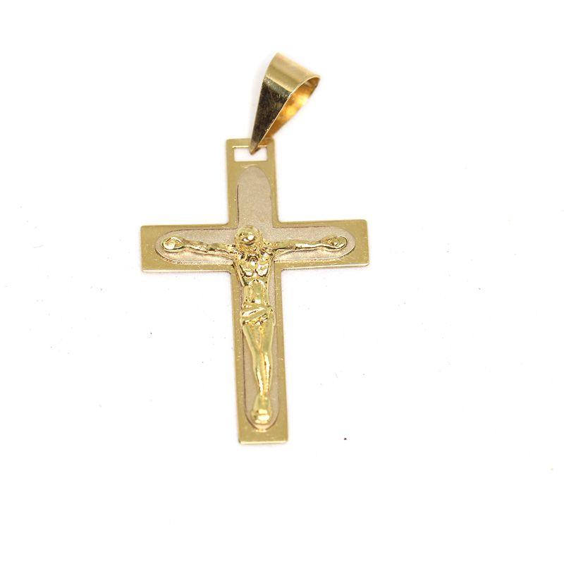 Cruz colgante oro